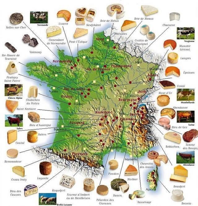 route des fromages français